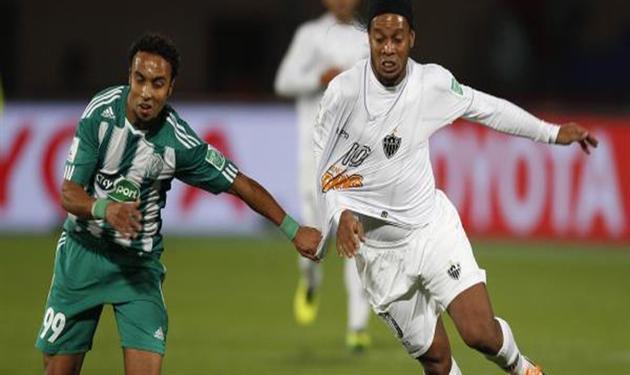 رونالدينيو نجم فريق أتلتيكو مينيرو البرازيلي في مونديال الأندية الأخير