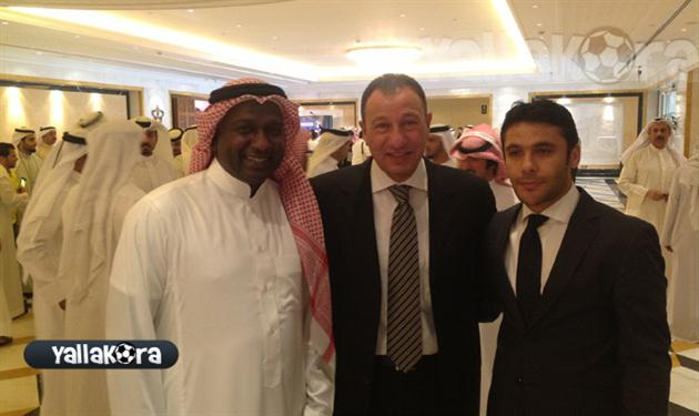 أحمد حسن ومحمود الخطيب على هامش القرعة