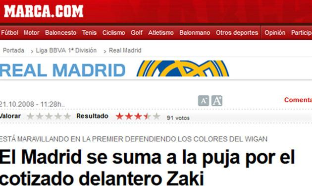 ماركا تنشر خبر اهتمام ريال مدريد بعمرو زكي
