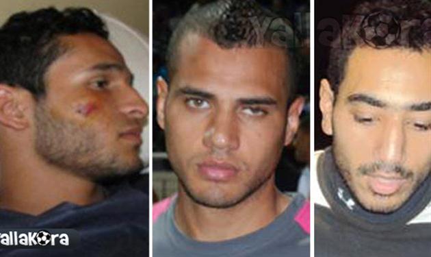 من اليمين - أيمن شوقى ، عصام عبد العاطي ، محمود حمد