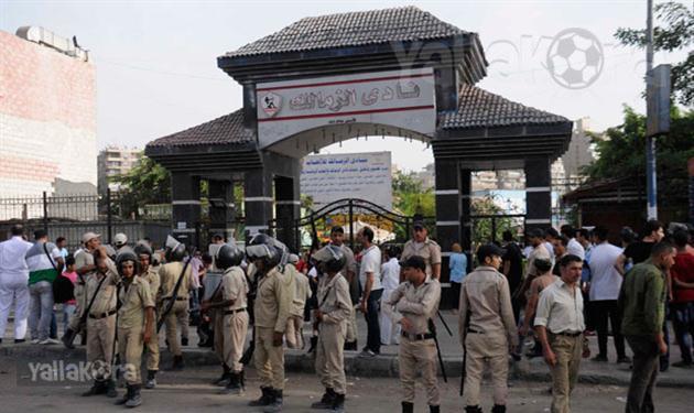 قوات الأمن أثناء تأمين الزمالك - صورة أرشيفية