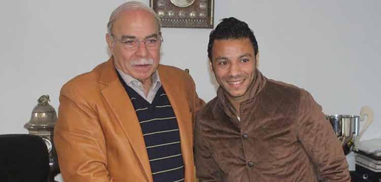 عمر جمال مع كمال درويش رئيس الزمالك