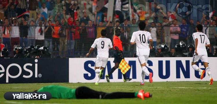 فرحة مصر بالهدف الأول