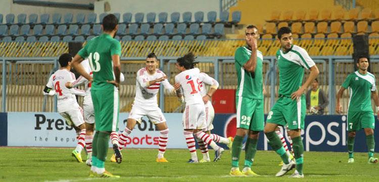 المصري والزمالك في مباراة سابقة