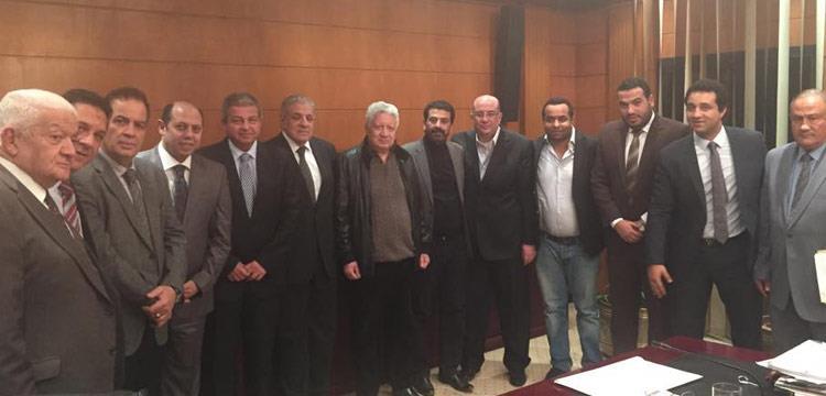 صورة من اجتماع رئاسة الوزراء مع إدارة الزمالك