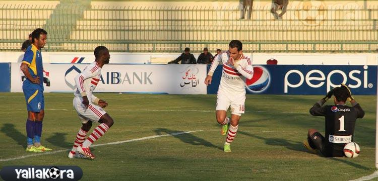 أحمد عيد يحتفل بهدفه