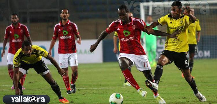 صلاح الدين سعيدو لاعب الأهلي في لقاء دجلة