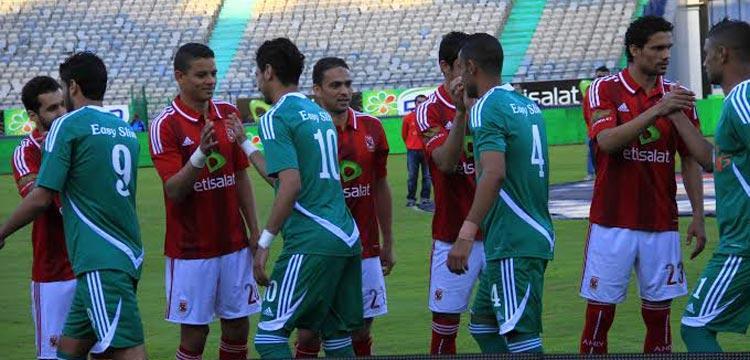 صورة من مباراة الأهلي والاتحاد السكندري