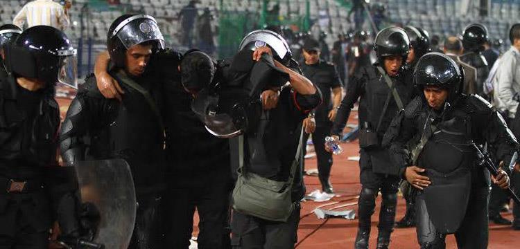 اصابة بعض رجال الشرطة بعد مباراة الاهلي والصفاقسي