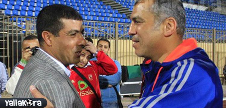 طارق العشري مع محمد يوسف في صورة أرشيفية