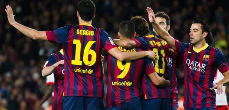 صورة أرشيفية للاعبي برشلونة