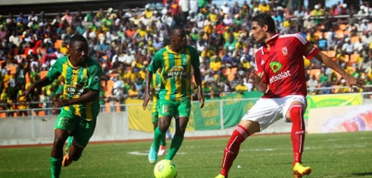 من مباراة يانج أفريكانز والأهلي