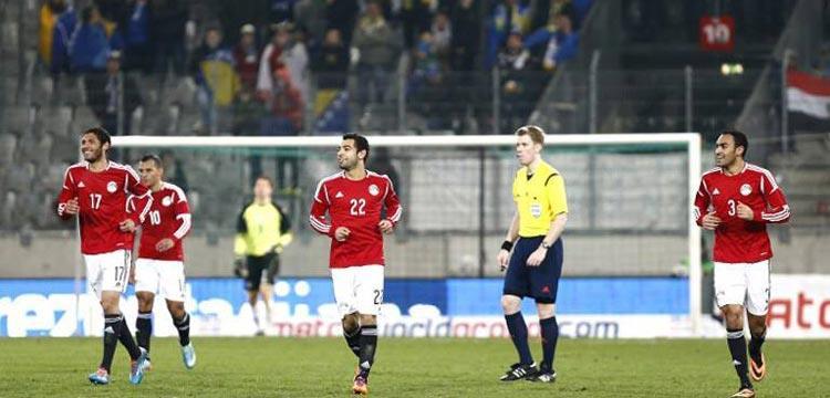 المنتخب المصري في مباراة البوسنة