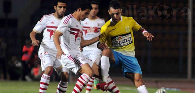 أحمد توفيق في مباراة فريقه ضد الإسماعيلي الأخيرة