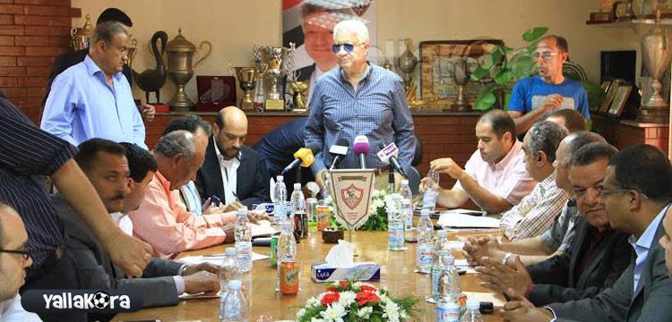 صورة سابقة لاجتماع لجنة الأندية برئاسة مرتضى منصور