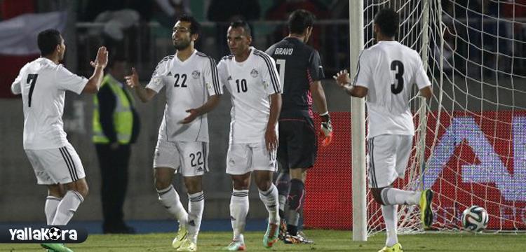 لقطة أرشيفية لمنتخب مصر من مباراة تشيلي الودية الأخيرة