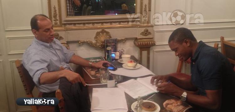 صورة مسربة لتوقيع معروف يوسف للنادي الأهلي