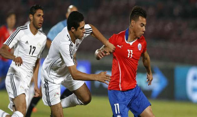 المنتخب المصري في مباراة ودية سابقة