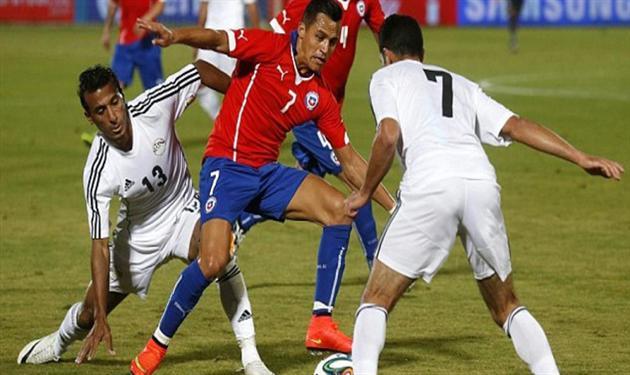 منتخب مصر في ودية تشيلي