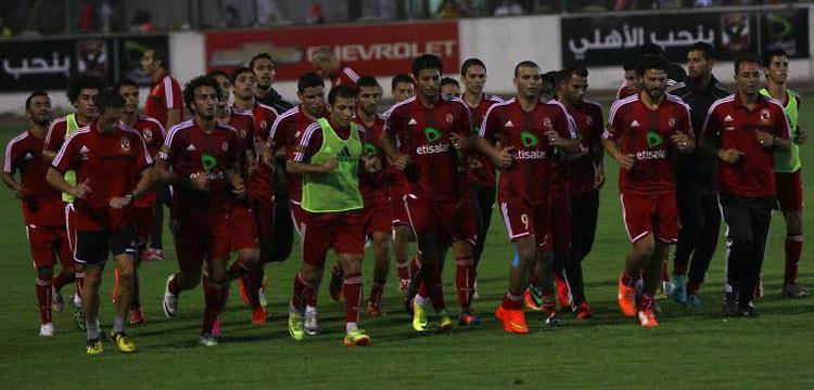 أحمد خيري في مران الأهلي