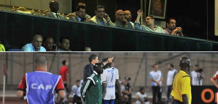 صورتين لأبرز لقطات المباراة