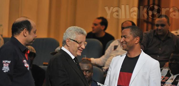 مرتضي منصور ورئيس مازيمبي