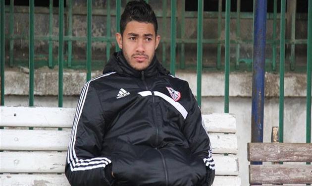 ياسر إبراهيم لاعب فريق الزمالك