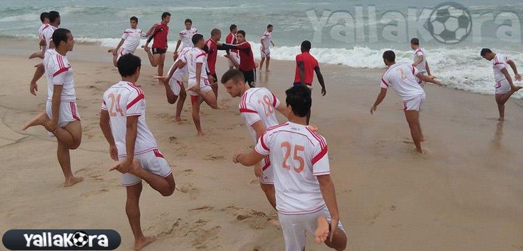 تدريبات منتخب مصر للناشئين على الشاطئ