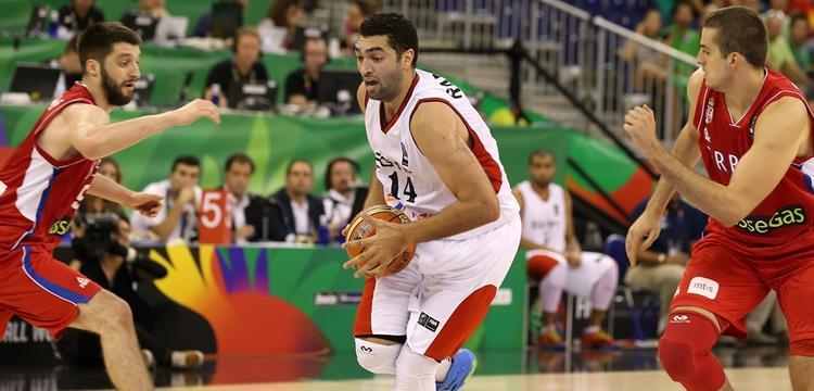 منتخب السلة امام صربيا
