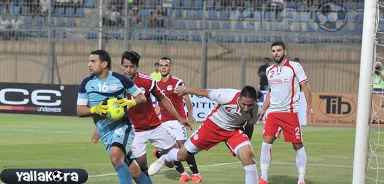 عمرو جمال في مباراة تونس السابقة.. صورة أرشيفية