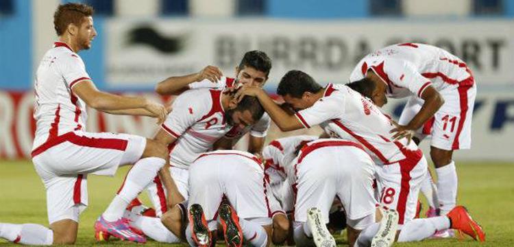 فرحة المنتخب التونسي بالفوز على بوتسوانا