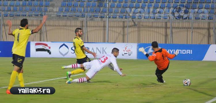 أحمد يسجل الهدف الأول للزمالك
