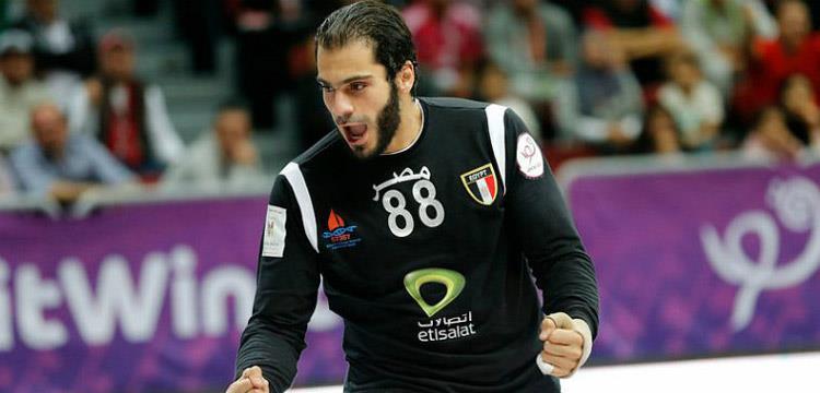 كريم هنداوي حارس مرمى المنتخب المصري لكرة اليد