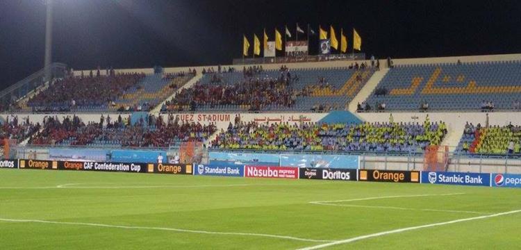 صورة من ملعب السويس