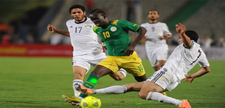السنغال ومصر في مباراة سابقة