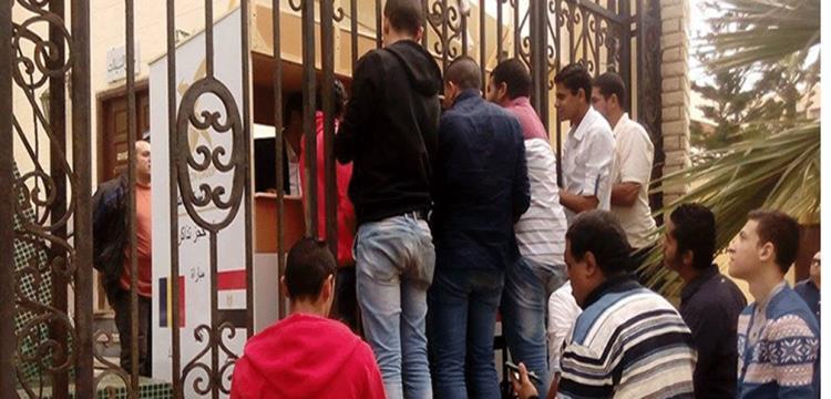 أحد منافذ بيع تذاكر المباراة بالأسكندرية