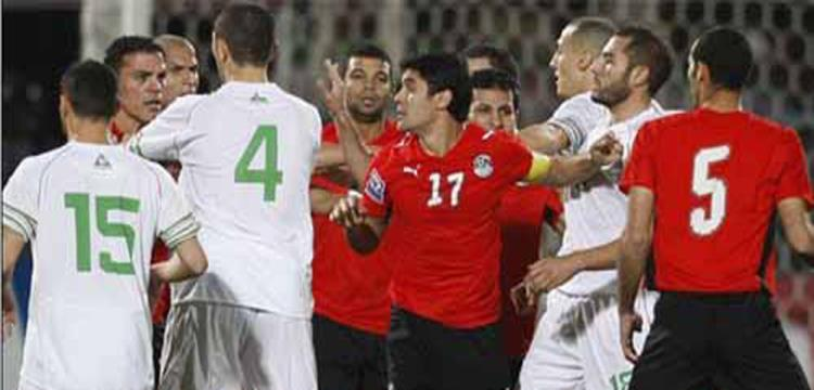 لقط من مباراة 2009 بين مصر والجزائر