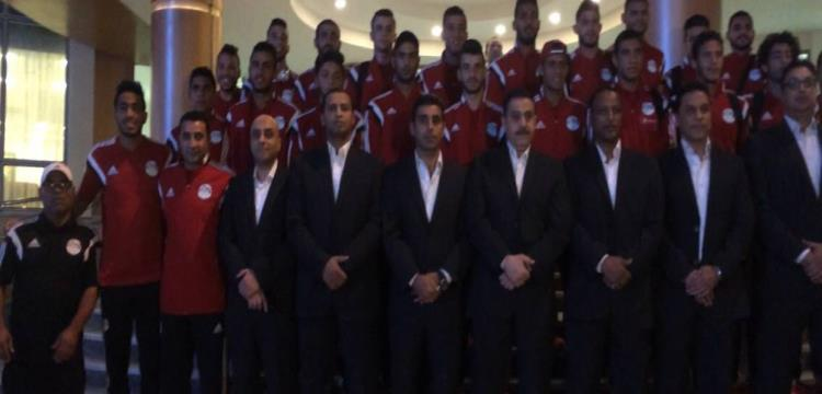 بعثة المنتخب الأولمبي قبل السفر إلى السنغال