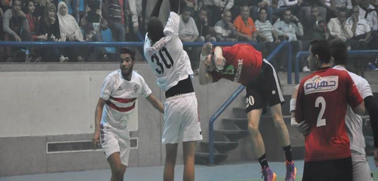 من مباراة كرة اليد بين الأهلي والزمالك