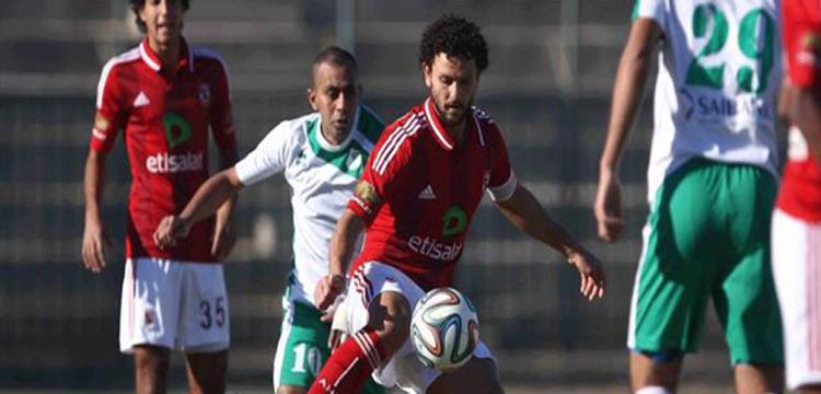 لقطة من مباراة سابقة بين الأهلي والمصري