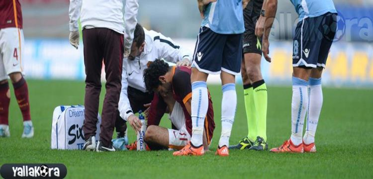 محمد صلاح أثناء اصابته