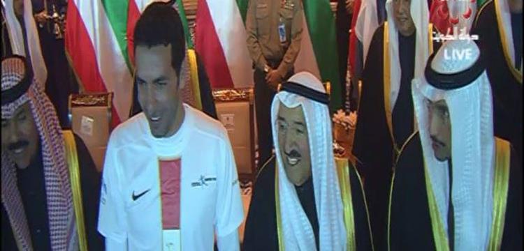 محمد أبو تريكة وأمير الكويت