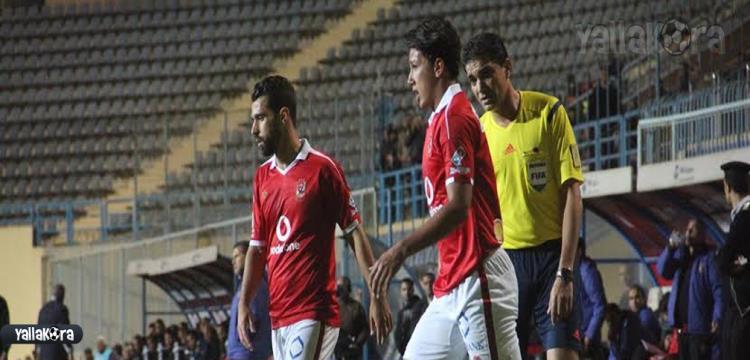 عمرو جمال في مباراة سموحة