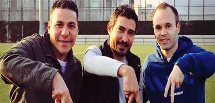 محمد بركات اثناء تواجده في برشلونة