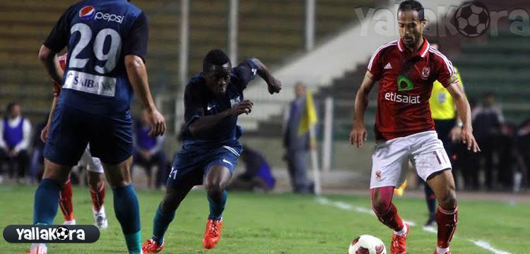 وليد سليمان في لقطة من المباراة