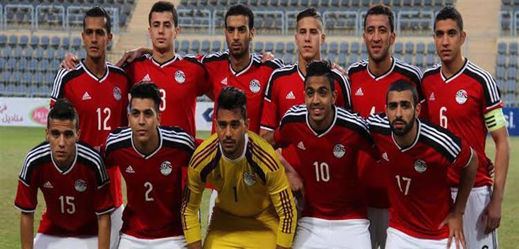 منتخب مصر الأولمبي في مباراة الذهاب
