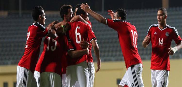 فرحة لاعبو منتخب مصر