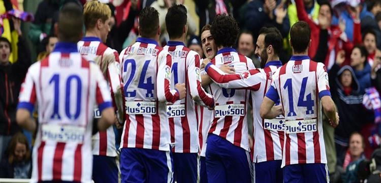 فرحة لاعبي اتليتكو مدريد