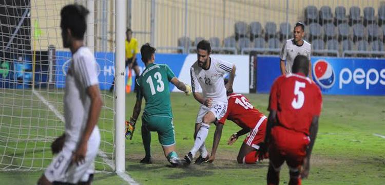 لقطة من المباراة السابقة لمنتخب مصر أمام غينيا الإستوائية