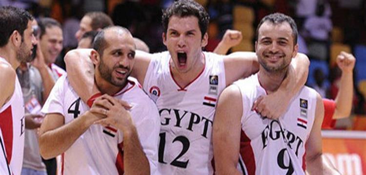 لقطة أرشيفية للاعبي منتخب مصر لكرة السلة